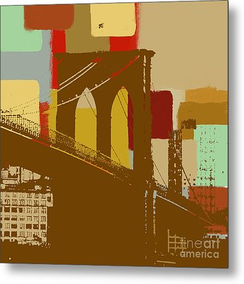 Brooklyn Bridge  Metal Print by Art Yashna