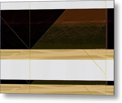 Brown Field Metal Print by Naxart Studio