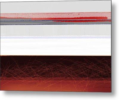 Brown Horizon Metal Print by Naxart Studio