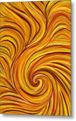 Brown Swirl Metal Print by Hakon Soreide