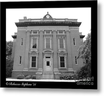 Brunswick Historical Court House Metal Print by Rebecca Stephens