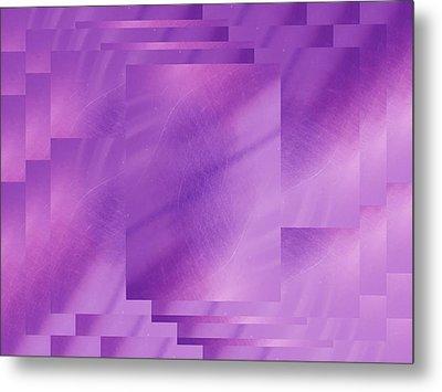 Brushed Purple Violet 7 Metal Print by Tim Allen