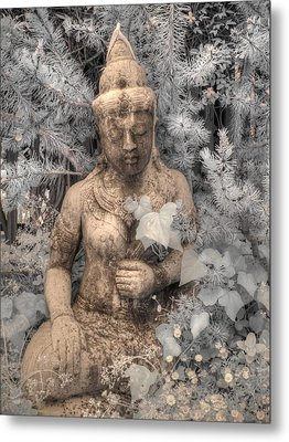 Buddha Nature Metal Print by Jane Linders