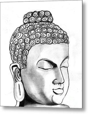 Buddha Metal Print by Shashi Kumar