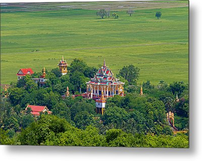 Buddist Temple Metal Print by David Freuthal