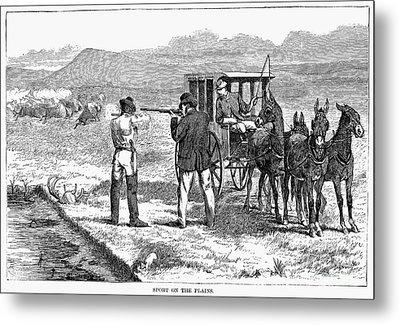 Buffalo Hunting, 1874 Metal Print by Granger