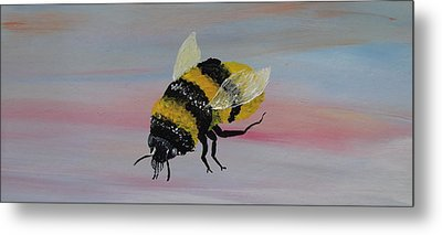 Bumble Bee Metal Print by Mark Moore