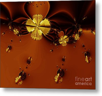 Bumble Beez Over Chocolate Lake . S19 Metal Print by Wingsdomain Art and Photography