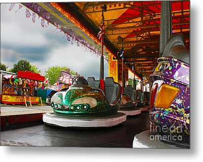 Bumper Cars Metal Print by Terri Waters