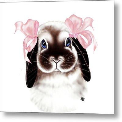 Bunny Metal Print by Elaine VanWinkle