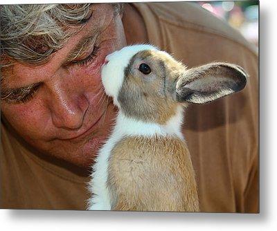 Bunny Kisses Metal Print by Theresa Johnson