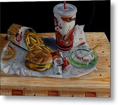 Burger King Value Meal No. 1 Metal Print by Thomas Weeks