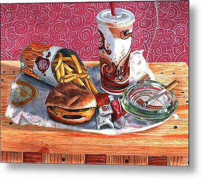 Burger King Value Meal No. 4 Metal Print by Thomas Weeks