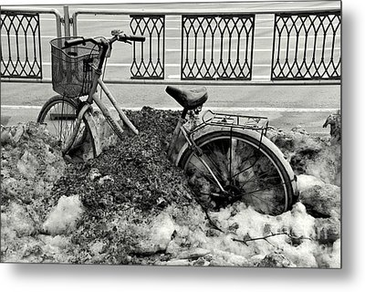 Buried In The Snow Metal Print by Dean Harte