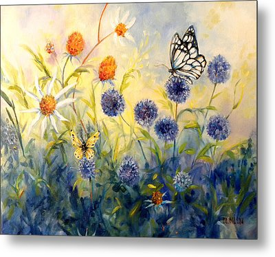 Butterfly Garden Metal Print by Peggy Wilson