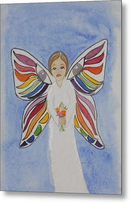 Butterfly People Sympathy Metal Print by DJ Bates