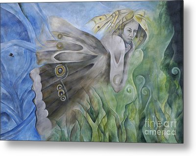 Butterfly Woman Costa Rica Metal Print by Bob Christopher