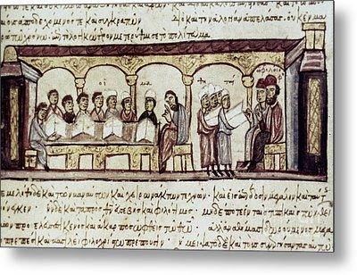 Byzantine Philosophy School Metal Print by Granger