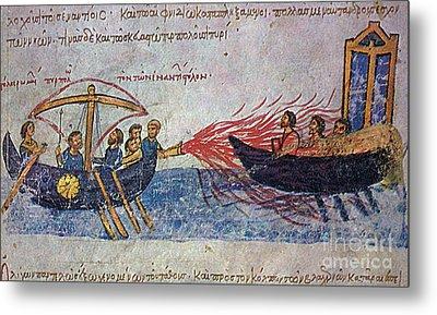 Byzantine Sailors  Metal Print by Photo Researchers