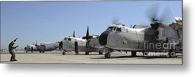 C-2a Greyhound Aircraft Start Metal Print by Stocktrek Images