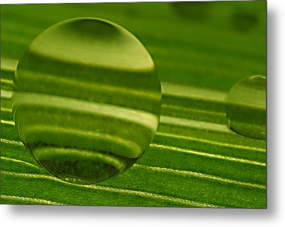C Ribet Orbscapes Green Jupiter Metal Print by C Ribet