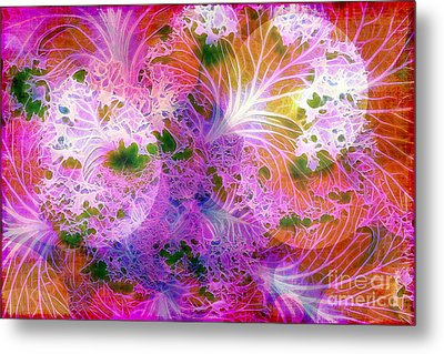 Cabbage Moon Metal Print by Judi Bagwell