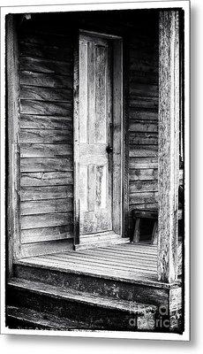 Cabin Door Metal Print by John Rizzuto