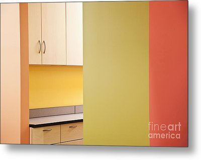 Cabinets In An Office Supply Room Metal Print by Jetta Productions, Inc