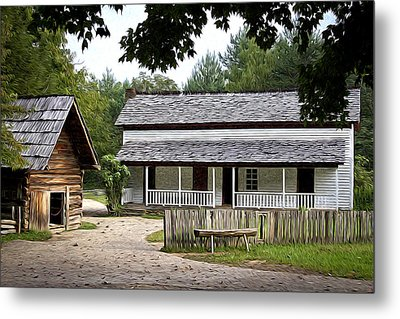 Cable Mill Home Place Cades Cove Metal Print by Mike Aldridge
