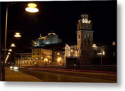 Calahorra Cathedral At Night Metal Print by RicardMN Photography