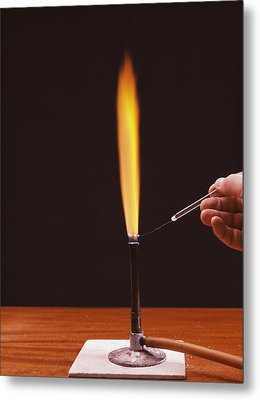 Calcium Flame Test Metal Print by Andrew Lambert Photography