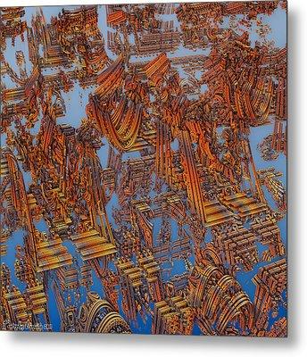 Calcutta Temple Goes To Heaven. Metal Print by Tautvydas Davainis