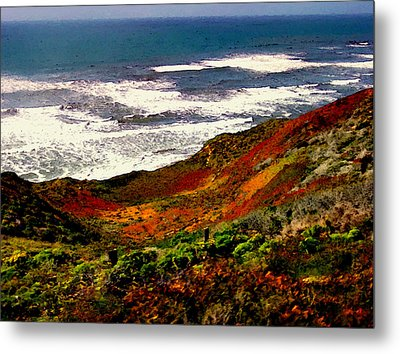 California Coastline Metal Print by Bob and Nadine Johnston