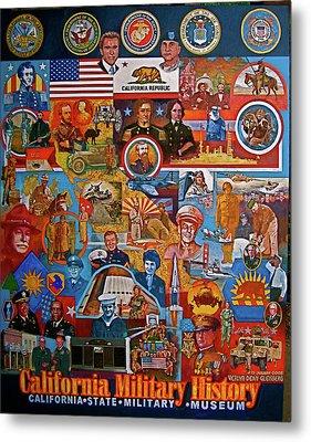 California Military History Mural Upgrade Metal Print by Dean Gleisberg
