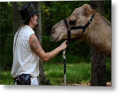 Camel Keeper Metal Print by Eamon Forslund