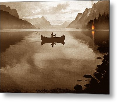Camp Waters Metal Print by Robert Foster