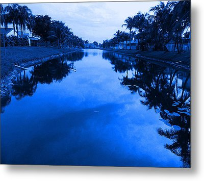 Canal View Metal Print by Val Oconnor