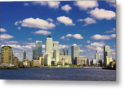 Canary Wharf Daytime Metal Print by Darkerphoto