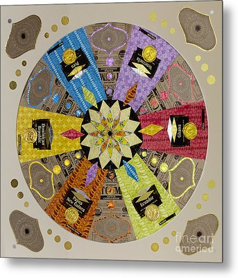 Candy Wrapper Mandala Metal Print by Fourth and Fith Grades