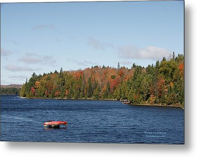 Canoe Ride Metal Print by Peter Clemence