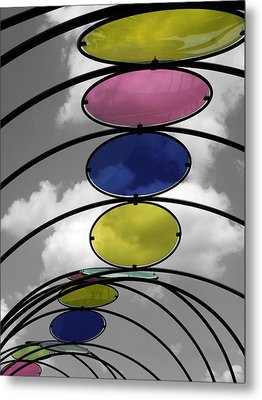 Canopy Black And White Abstract Metal Print by Sandi OReilly