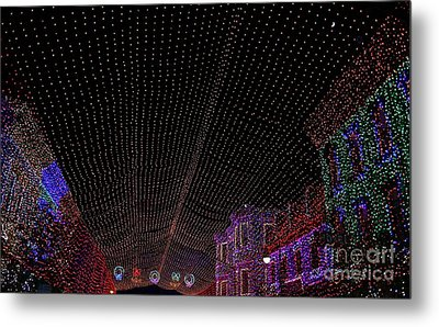 Canopy Of Lights Metal Print by Ronnie Glover