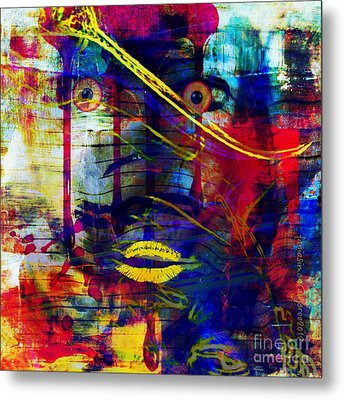 Can't Even Begin To Tell It Metal Print by Fania Simon