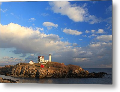 Cape Neddick Nubble Lighthouse Maine Metal Print by John Burk