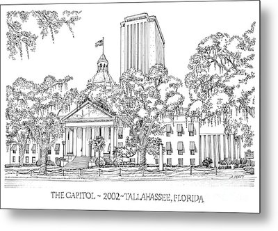 Capitol 2002 Tallahassee Metal Print by Audrey Peaty