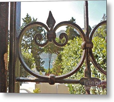 Capri Through Gate Metal Print by Italian Art