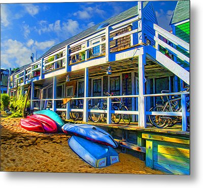 Captain Jack's At Sunrise Metal Print by Tammy Wetzel
