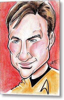 Captain James T. Kirk Metal Print by Big Mike Roate