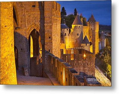Carcassonne Ramparts Metal Print by Brian Jannsen