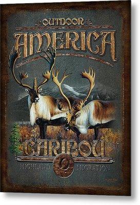 Caribou Metal Print by JQ Licensing